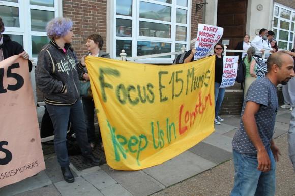 Focus E15 Mums protest