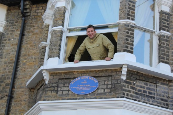 Damon Albarn blue plaque Leytonstone
