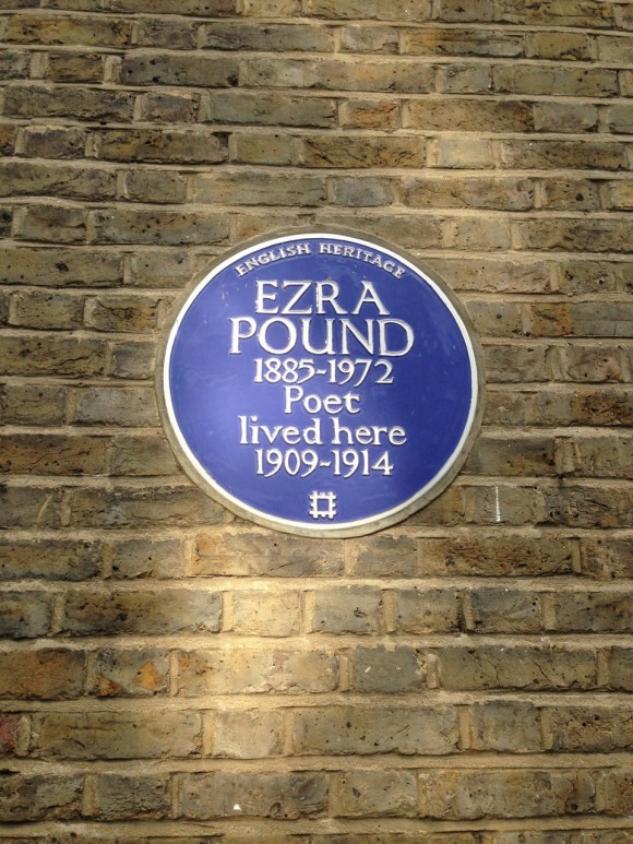 Ezra Pound Kensington Blue Plaque