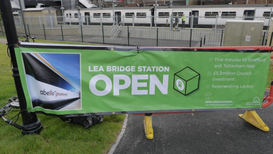Lea Bridge Station opening