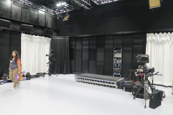 sound stage with 4k cameras