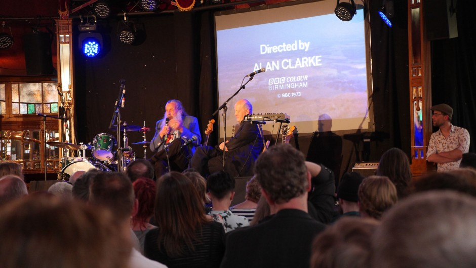 Alan Moore and Iain Sinclair at the Brighton Spiegeltent 24th May 2017