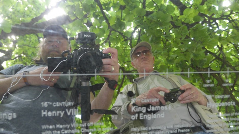 John Rogers and Iain Sinclair in Charlton Park