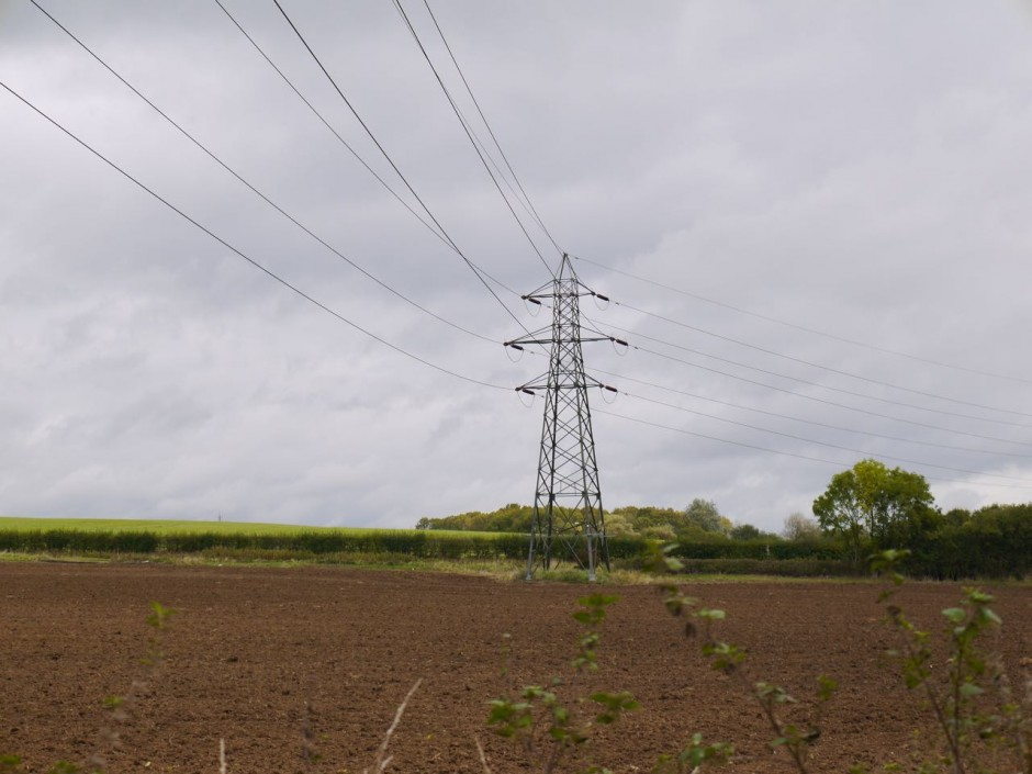 pylon in field near Epping