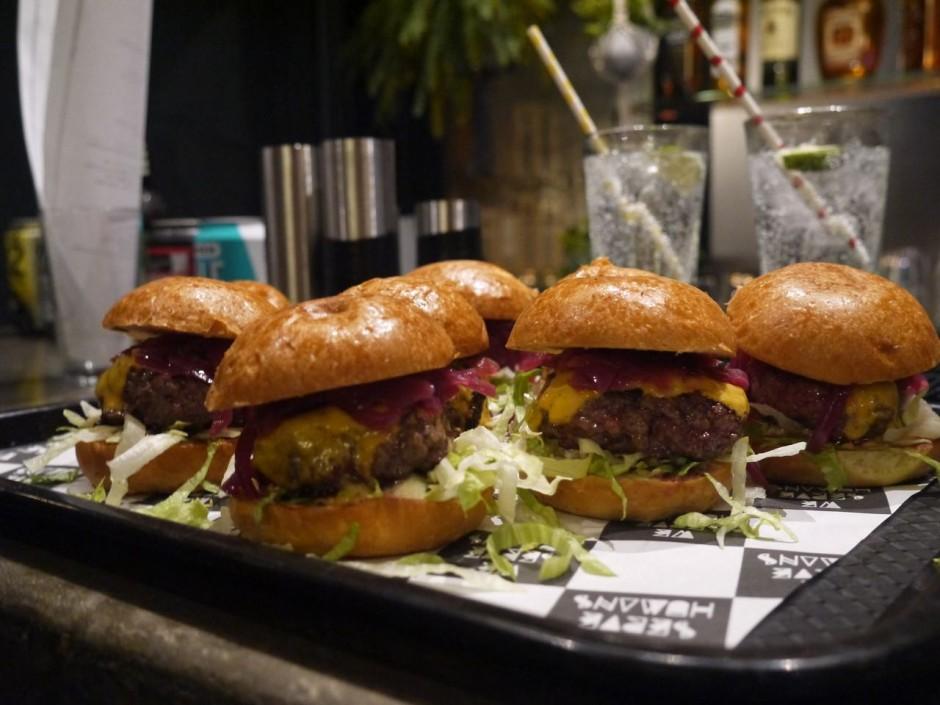 Heathcote and Star We Serve Humans burgers