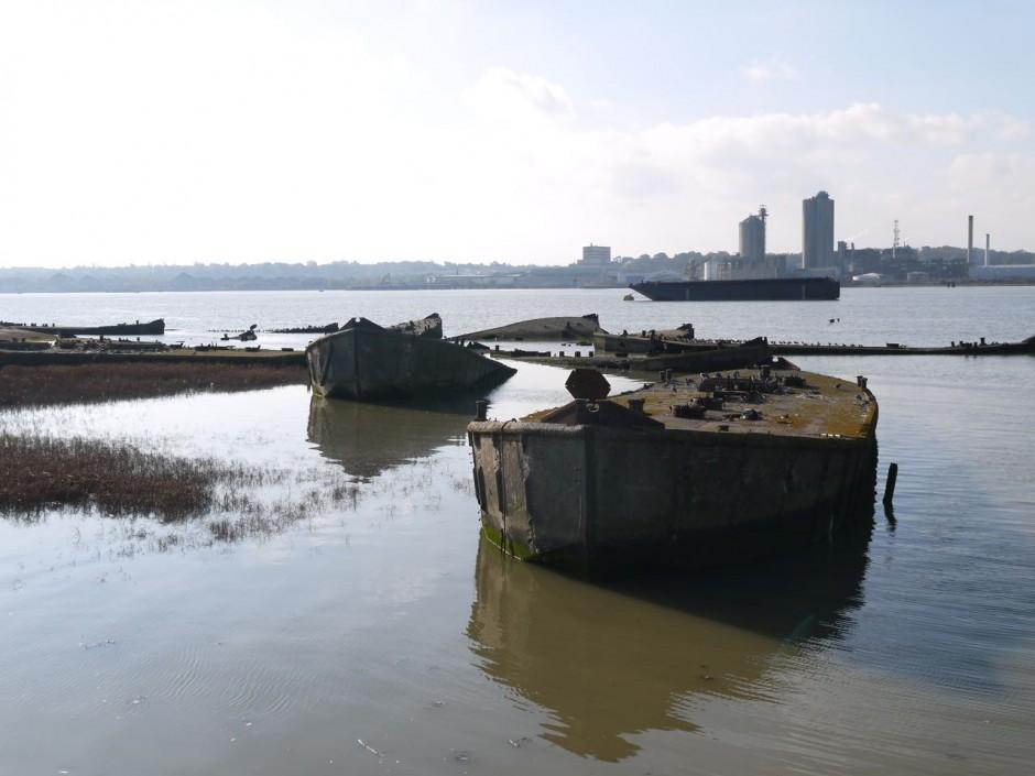 concrete barges rainham marshes