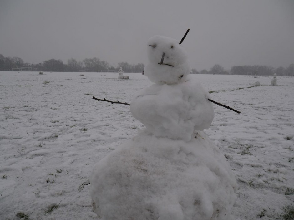 Snowman on Wanstead Flats