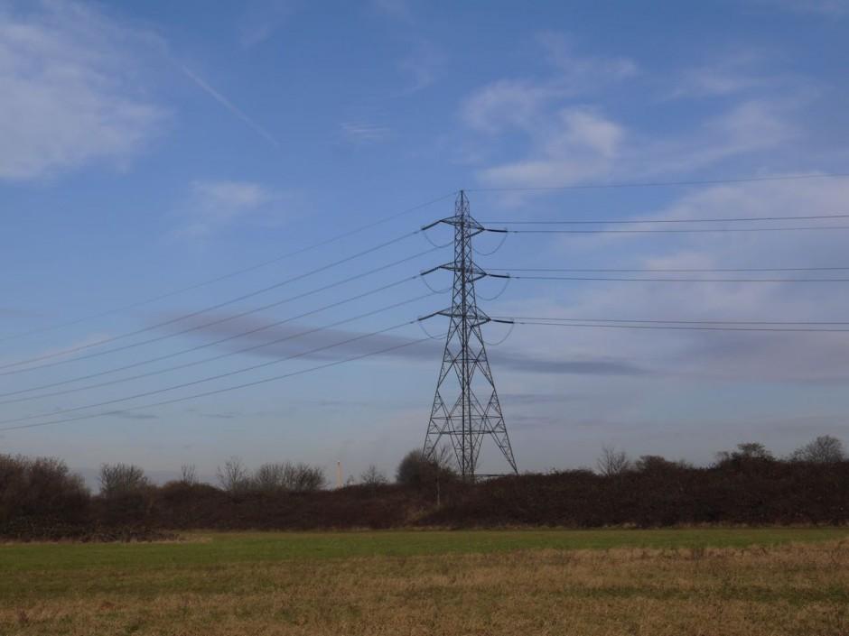 Leyton marshes pylons