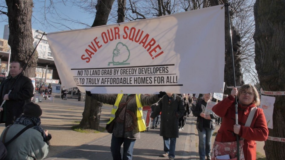 Walthamstow Town Square protest